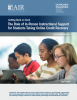 The Role of In-Person Instructional Support for Students Taking Online Credit Recovery